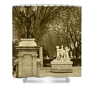 El Prado Boulevard Madrid Spain Shower Curtain