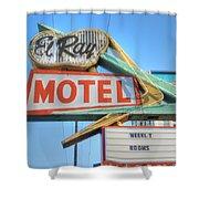 El Ray Motel Shower Curtain