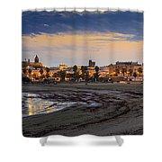 El Rompidillo Beach Panorama Cadiz Spain Shower Curtain