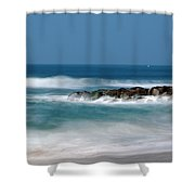 El Segundo Beach Jetty Shower Curtain
