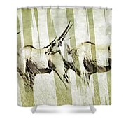 Eland-modern Shower Curtain