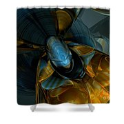 Elated Abstract Shower Curtain