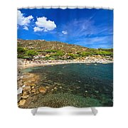 Elba Island - Beach In Seccheto  Shower Curtain