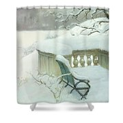 Elbpark In Hamburg Shower Curtain by Fritz Thaulow