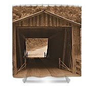 Elder Mill Covered Bridge Shower Curtain