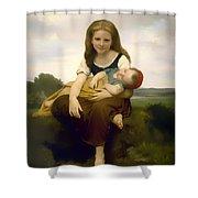 Elder Sister Shower Curtain