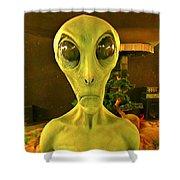 Elderly Alien Shower Curtain