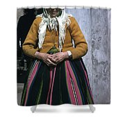 Elderly Woman Shower Curtain