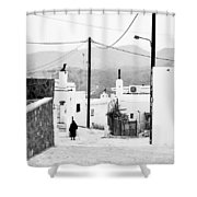 Elderly Woman In Asclipio Shower Curtain