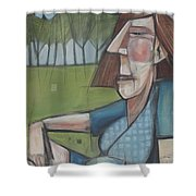 Eleanor Rigby Avec Chardonnay Shower Curtain