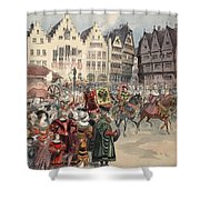 Election To The Empire The Procession Shower Curtain