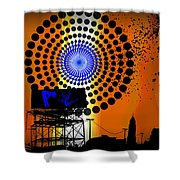 Electric Avenue Shower Curtain