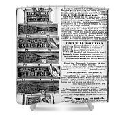 Electric Brushes, 1883 Shower Curtain