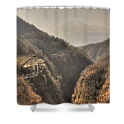 Electric Central Shower Curtain