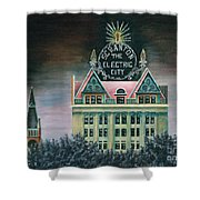 Electric City At Night Shower Curtain