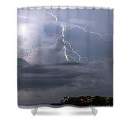 Electric Cloud Shower Curtain
