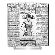 Electric Corset, 1887 Shower Curtain