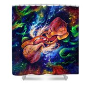 Electric Desire Shower Curtain