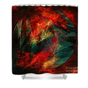 Electric Dreams Of The Ancients Shower Curtain