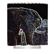 Electric Elephant Shower Curtain