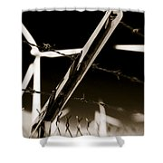 Electric Fence Duo Tone Shower Curtain