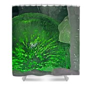 Electric Green Shower Curtain