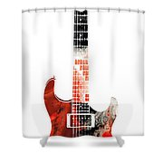 Electric Guitar - Buy Colorful Abstract Musical Instrument Shower Curtain