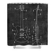 Electric Guitar Patent 039 Shower Curtain