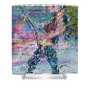 Electric Guitarism Shower Curtain