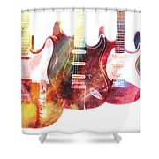 Electric Guitars Shower Curtain
