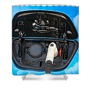 Electric Hybrid Car Charging Socket Shower Curtain