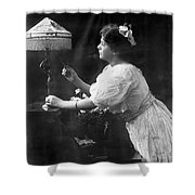 Electric Lamp, 1908 Shower Curtain