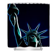 Electric Liberty Shower Curtain