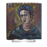 Electric Light Frida Shower Curtain