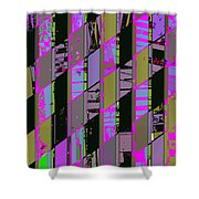 Electric Magenta Shower Curtain