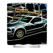 Electric Mustang Shower Curtain