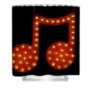Electric Notes Shower Curtain