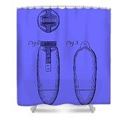 Electric Razor Patent 1939 Shower Curtain