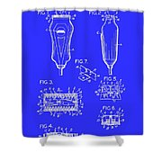 Electric Razor Patent 1940 Shower Curtain