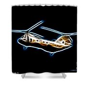Electric Sea Knight Shower Curtain