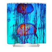 Electric See Shower Curtain