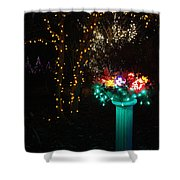 Electric Still Life Shower Curtain