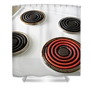Electric Stovetop Shower Curtain