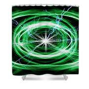 Electric Strom Shower Curtain