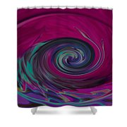 Electric Tidal Wave Shower Curtain
