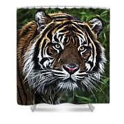 Electric Tiger Shower Curtain