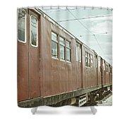 Electric Train Shower Curtain