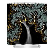 Electric Tree - Phone Cases And Cards Shower Curtain