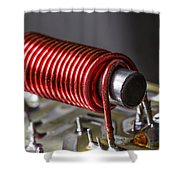 Electrical Coil With Iron Core Shower Curtain