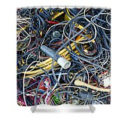 Electrical Cord Picking Shower Curtain